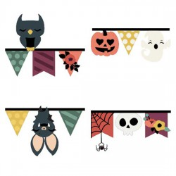 Whimsy Witch - Pennant Borders - CS