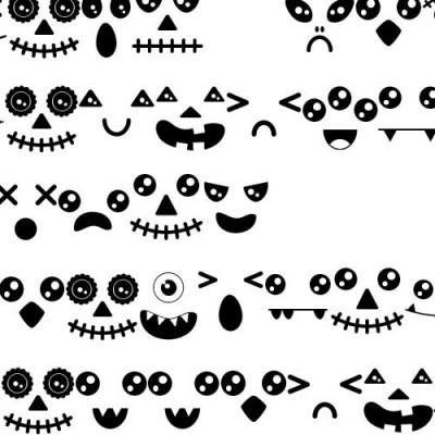 DB Kawaii Halloween Faces - DB