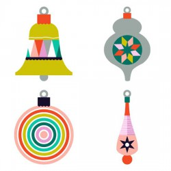 Modern Christmas - Ornaments - GS