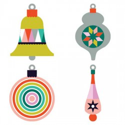Modern Christmas - Ornaments - CS