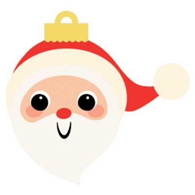 Storybook Christmas - Santa Ornament - CS