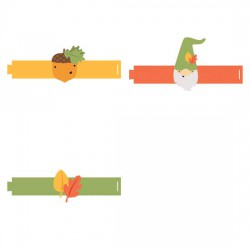 Fall Gnomes - Napkin Holders - CP