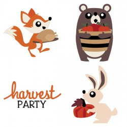 Woodland Critters - Harvest - CS