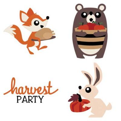 Woodland Critters - Harvest - CS