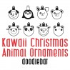 DB Kawaii Christmas - Animal Ornaments - DB -  - Sample 1
