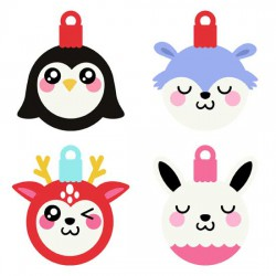 Kawaii Christmas - Animal Ornaments - GS