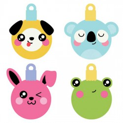 Kawaii Christmas - Animal Ornaments - CS
