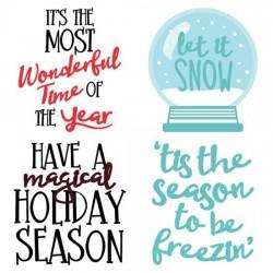 Merry Snowglobes - Sayings - CS