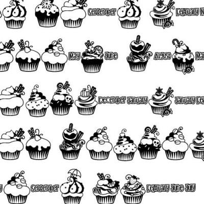 DB Calendar - Cupcakes - DB