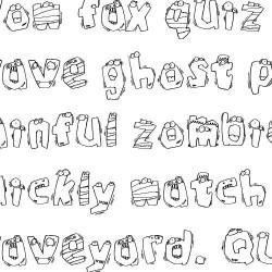 LDJ Zombies - Font