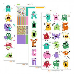 Silly Monsters - Graphics Bundle