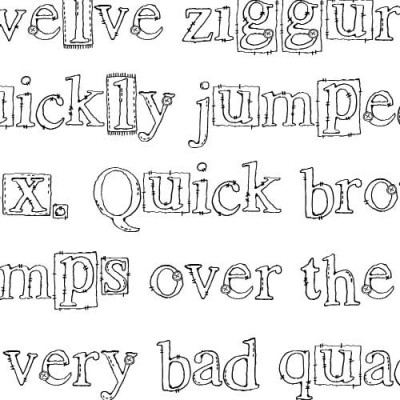 LDJ Quilted Times - Font
