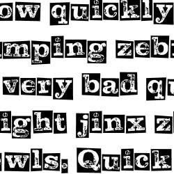 LD Letterpress Inverted - Font