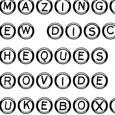 LD Type Keys White - Font