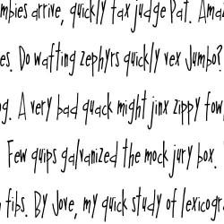 LDJ Elf Writing - Font