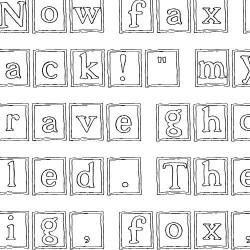 LDJ Snow Blocks - Font