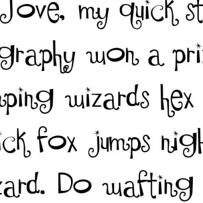 LDJ Shortbread Hand - Font