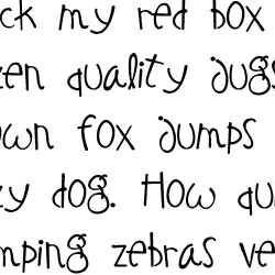 LDJ Elf Notes - Font
