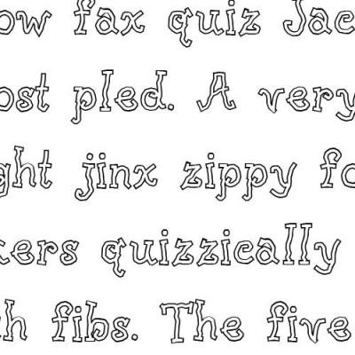 LD Raggedy - Font