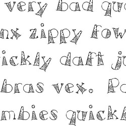 LD Funky Flowers - Font