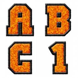 Varsity Orange & Black - AL