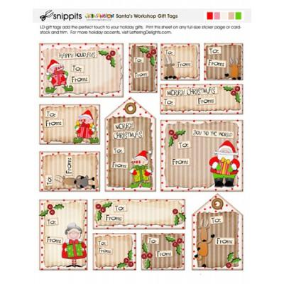SN Santa's Workshop Gift Tags - PR