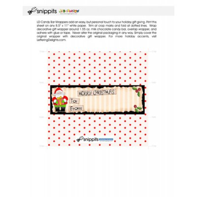 Santa's Workshop - Candy Bar Wrapper - PR