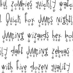 LDJ Doodaddles - Font
