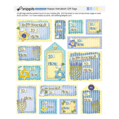 SN Happy Hanukkah Gift Tags - PR