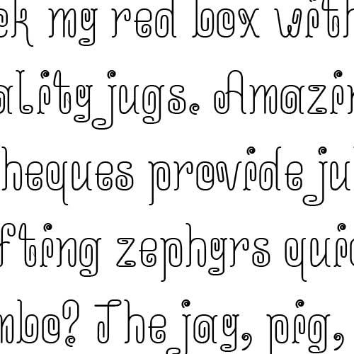 ld curvy font