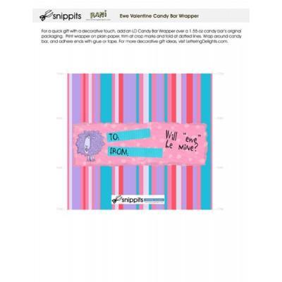 Ewe Valentine - Candy Bar Wrapper - PR