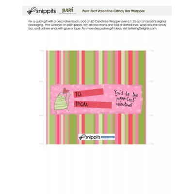 Purrr-fect Valentine - Candy Bar Wrapper - PR