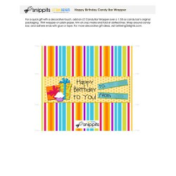 Happy Birthday - Candy Bar Wrapper - PR