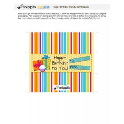 Happy Birthday - Candy Bar Wrapper - PR
