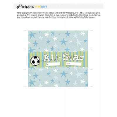 All Star Soccer - Candy Bar Wrapper - PR