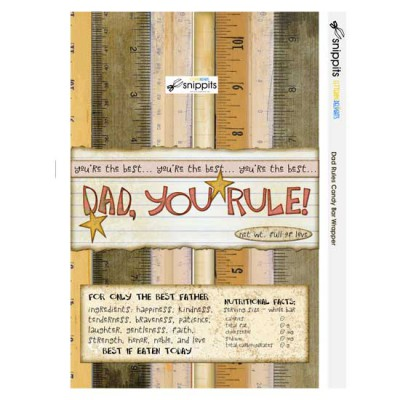 Dad Rules - Candy Bar Wrapper - PR