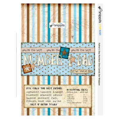 Father's Day #1 - Candy Bar Wrapper - PR