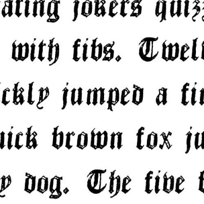 TXT Old English - Font