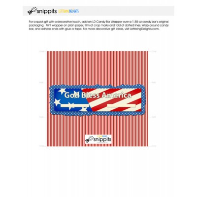 God Bless America - Candy Bar Wrapper - PR