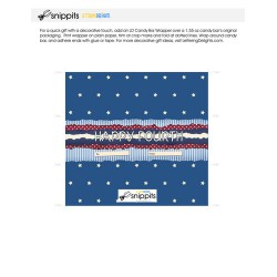 Happy Fourth - Candy Bar Wrapper - PR