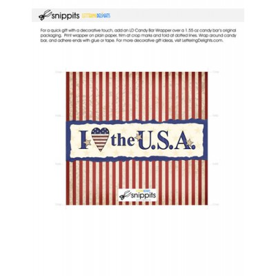 I Love the USA - Candy Bar Wrapper - PR