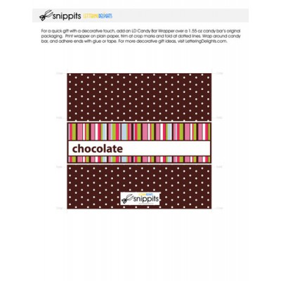 Chocolate Stripes - Candy Bar Wrapper - PR