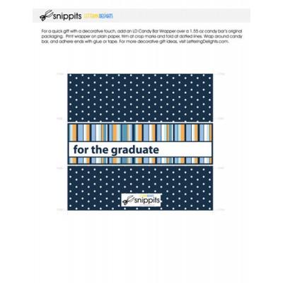 Graduate Stripes - Candy Bar Wrapper - PR