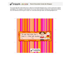 Friend Chocolate - Candy Bar Wrapper - PR