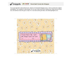 Friend Quilt - Candy Bar Wrapper - PR