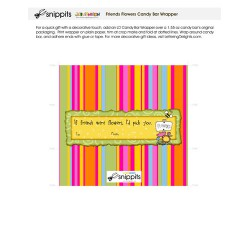 Friends Flowers - Candy Bar Wrapper - PR
