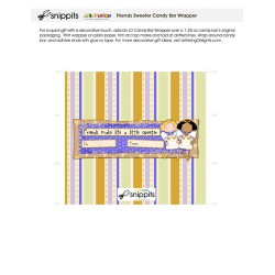Friends Sweeter - Candy Bar Wrapper - PR
