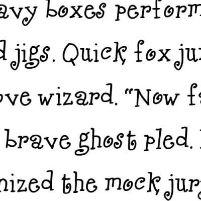 TXT Jubulation - Font