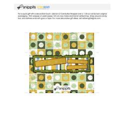 Green Happy Birthday - Candy Bar Wrapper - PR