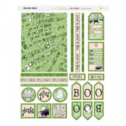 Monster Mash Cards - Green - PR